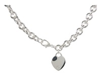 Guess Heart Charm Necklace Silver Necklace