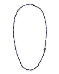 Sodalite Beaded Necklace With Diamonds And Sapphires Siena Jewelry Gold