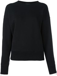 Rag And Bone Cropped Sweatshirt Black