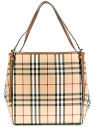 Burberry House Check Shoulder Bag Nude And Neutrals