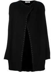 Valentino Studded Cardi Coat Black