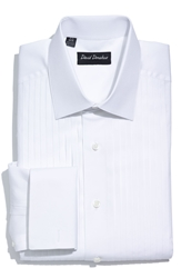David Donahue Regular Fit Tuxedo Shirt White