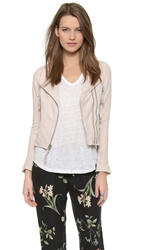Joie Vivianette Leather Jacket Soft Sand