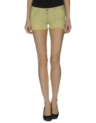 Met Denim Shorts Yellow