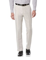 Perry Ellis Big And Tall Linen And Cotton Dress Pants Natural Linen