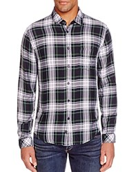 Rails Lennox Plaid Regular Fit Button Down Shirt Green Navy White