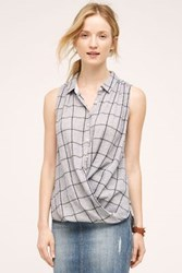 Anthropologie Emery Wrap Top Blue