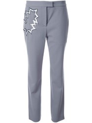 Christopher Kane Smash Motif Trousers Grey
