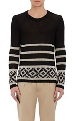 Barena Venezia Men's Fair Isle Sweater Black