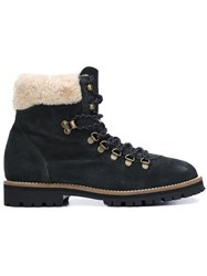 Mr And Mrs Italy Shearling Hiking Boots Green