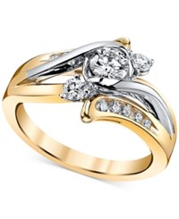 Macy's Sirena Diamond Engagement Ring 5 8 Ct. T.W. In 14K Gold And White Gold Yellow Gold