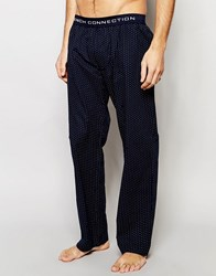 French Connection Lounge Pants In Polka Dot Blue