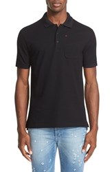 Givenchy Men's Embroidered Cross Pocket Polo