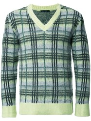 Guild Prime Plaid V Neck Jumper Yellow Orange