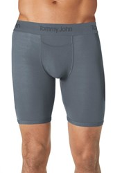 Men's Tommy John 'Second Skin' Boxer Briefs Turbulence Grey