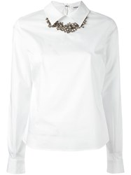 P.A.R.O.S.H. Embellished Collar Shirt White