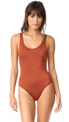Solid And Striped The Anne Marie One Piece Cinnamon