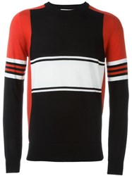 Givenchy Colour Block Panelled Sweater Black