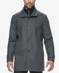 Marc New York Strafford Wool Blend Bibby Car Coat Charcoal