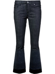 Victoria Beckham Cropped Flared Jeans Blue