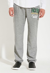 Forever 21 Junk Food Nfl Green Bay Packers Sweatpants Grey Yellow