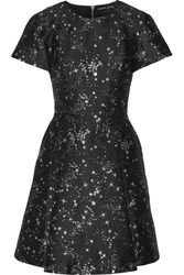 Markus Lupfer Constellation Irena Jacquard Mini Dress Black