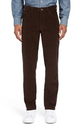 Nordstrom Men's Big And Tall Men's Shop Five Pocket Straight Leg Corduroy Pants Brown Demitasse