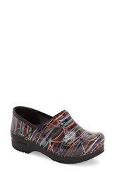 Women's Dansko 'Professional' Patterned Clog Streamers Patent Leather