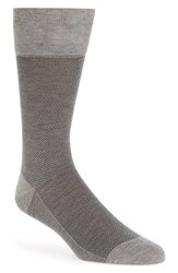 John W. Nordstromr Men's Big And Tall Nordstrom Herringbone Socks Light Grey Marle Black