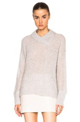 Inhabit Cashmere Marled Shaker Sweater In Gray