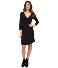 Mod O Doc Cotton Modal Spandex Jersey Surplice Banded Empire Dress Black Women's Dress