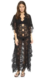 Nightcap X Carisa Rene Seashell Lace Caftan Black