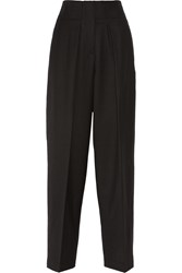 3.1 Phillip Lim Wool Gabardine Wide Leg Pants Black