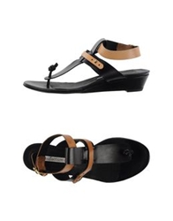Manufacture D'essai Thong Sandals Black