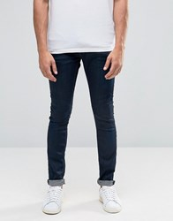 Selected Skinny Fit Stretch Jeans In Indigo Denim Blue