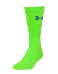 Under Armour Elevated Performance Crew Socks Lime Green