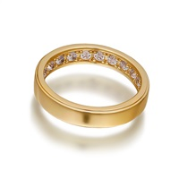 Openjart Sapphires Inside Women's Wedding Ring Gold