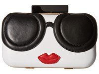 Alice Olivia Large Stace Face Clutch Multi