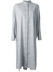 Enfold Relaxed Fit Shirt Dress Grey