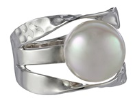Majorica Ribbon 12Mm Rd Ring Silver White Ring