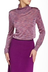 Raoul Fitted Turtleneck Purple