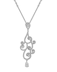 Jankuo Fancy Swirl Drop Necklace Compare At 58 Silver