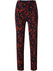 Givenchy Abstract Floral Print Trousers Red