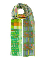 Pierre Louis Mascia Pierre Louis Mascia Printed Scarf Green