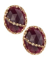 Lana Spellbound Pink Sapphire Stud Earrings Women's