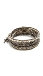 Chan Luu Wrap It Up Bracelet Gunmetal Mix