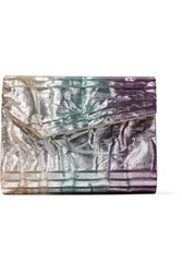 Jimmy Choo Candy Glittered Acrylic Clutch Blue