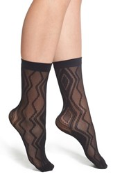 Emilio Cavallini Hosiery Women's Emilio Cavallini Chevron And Diamond Pattern Trouser Socks