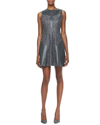 Ali Ro Metallic Fit And Flare Dress