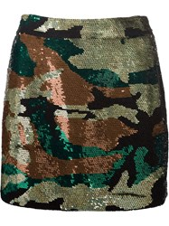 Ashish Sequinned Camouflage Skirt